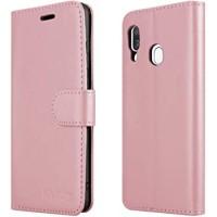 Θήκη Book Style με Βάση Στήριξης για Samsung (Galaxy A40) - (ΑΝΟΙΧΤΟ ΡΟΖΕ)
