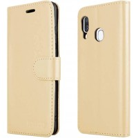 Θήκη Book Style με Βάση Στήριξης για Samsung (Galaxy A40) - (ΧΡΥΣΟ)