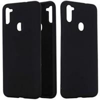 OEM Hard Back Cover Case Σκληρή Σιλικόνη Θήκη Για Samsung Galaxy A11 Μαύρο