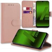 Θήκη Book Style με Βάση Στήριξης για Samsung (Galaxy A20S) -ΑΝΟΙΧΤΟ ΡΟΖΕ