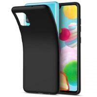 OEM Back Θήκη Σιλικόνης Για Samsung A41 Προστασία Κινητό -  Black