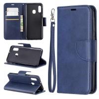 Θήκη Book Style με Βάση Στήριξης για Samsung (Galaxy A20S) -ΜΠΛΕ