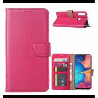Θήκη Book Style με Βάση Στήριξης για Samsung (Galaxy A20S) -Φούξια