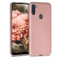 OEM Hard Back Cover Case Σκληρή Σιλικόνη Θήκη Για Samsung Galaxy A11 ΑΝΟΙΧΤΟ ΡΟΖΕ