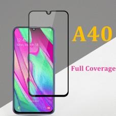 Tempered Glass 9H Για Samsung A40 Full Glue Προστατευτικό Οθόνης - Μαύρο