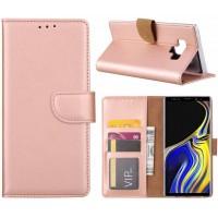 Θήκη Book Style με Βάση Στήριξης για Samsung (Galaxy Note 9 ) - ΑΝΟΙΧΤΟ ΡΟΖΕ