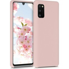 OEM Back Cover Case Σιλικόνη Για Samsung A41 Προστασία Κινητό- ΑΝΟΙΧΤΟ ΡΟΖΕ
