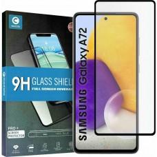 Tempered Glass 9H Για Samsung A72 Full Glue Προστατευτικό Οθόνης - Μαύρο