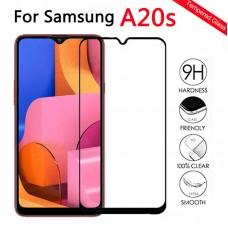 Tempered Glass 9H Για Samsung A20S Full Glue Προστατευτικό Οθόνης - Μαύρο