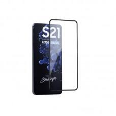 Tempered Glass 9H Για Samsung S21 Full Glue Προστατευτικό Οθόνης - Μαύρο