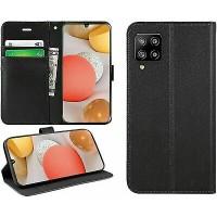 Θήκη Book Style με Βάση Στήριξης για Samsung (Galaxy A22 5G) -Μαύρο