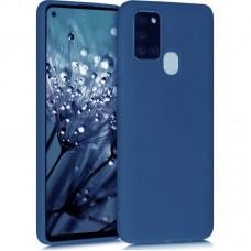 OEM Back Cover Case Σιλικόνη Για Samsung A21S Προστασία Κινητό ΜΠΛΕ