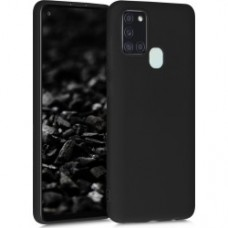 OEM Back Cover Case Σιλικόνη Για Samsung A21S Προστασία Κινητό Μαύρο