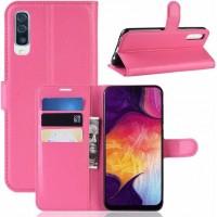 Θήκη Book Style με Βάση Στήριξης για Samsung (Galaxy A30S/A50) - (Φούξια)