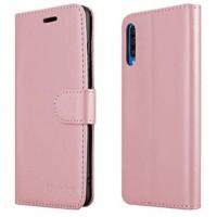 Θήκη Book Style με Βάση Στήριξης για Samsung (Galaxy A30S/A50) - (ΑΝΟΙΧΤΟ ΡΟΖΕ)