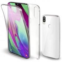 Samsung Galaxy A40 OEM Front & Back Silicone Σκληρη Two Crystal Διάφανο