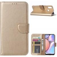 Θήκη Book Style με Βάση Στήριξης για Samsung (Galaxy A10s) - (ΧΡΥΣΟ)