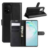 Θήκη Book Style με Βάση Στήριξης για Samsung (Galaxy S10 Lite/A91/M80S) -Μαύρο